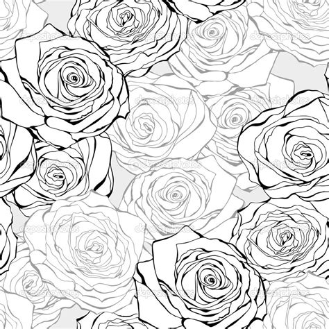 black and white rose pattern 16 black vintage rose vector images vintage black and