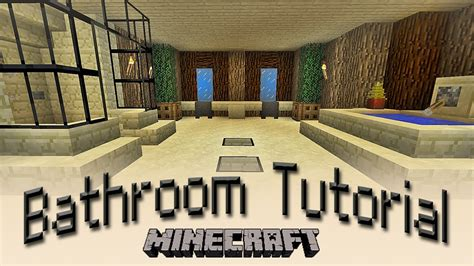 minecraft how to make a bathroom tutorial