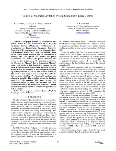 research paper on maglev of magnetic levitation system pdf
