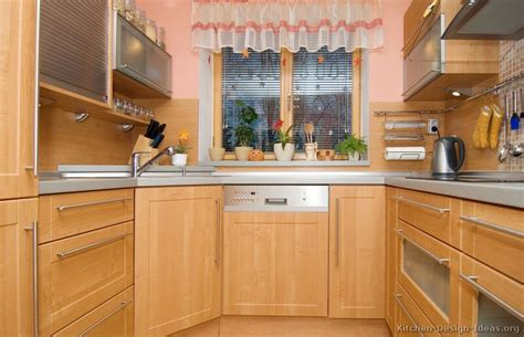 Wood Kitchen Design Modern Light Wood Kitchen Cabinets Pictures Design Ideas