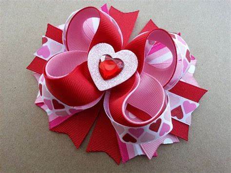 valentines day bow pin by becky on hair bows s day