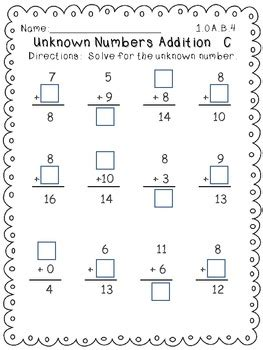 Common Math Worksheets 1st Grade by Common Operations And Algebraic Thinking Math