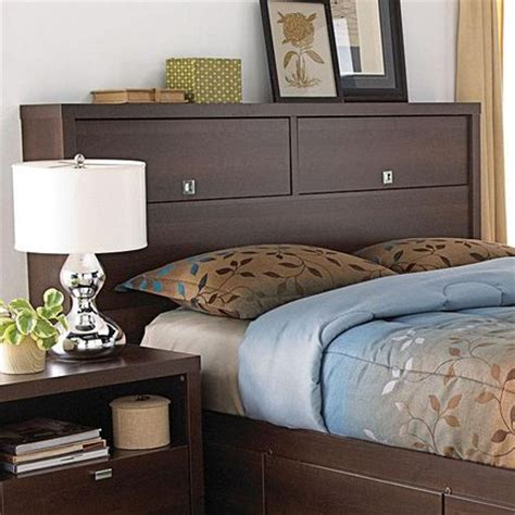 King Size Headboard With Storage And Lights by Headboards With Storage Bookcase Headboard And Headboards