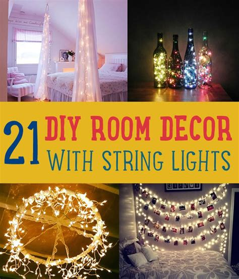 lights decorating diy room decor with string lights diy ready