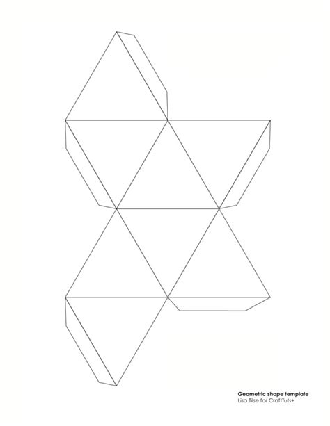 template for shapes net small stellated dodecahedron pattern geometric