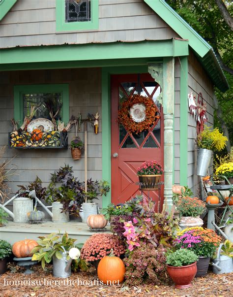 Harvest Windows Inspiration Fall Potting Shed Inspiration And Quaint Garden Sheds Home Is Where The Boat Is