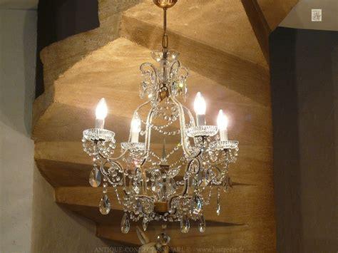 lustre en cristal lustres a pilles de cristal antique connection fr