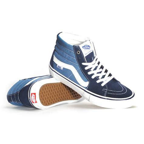 Vans Sk8 Hi Navy vans sk8 hi pro navy stv navy s skate shoes