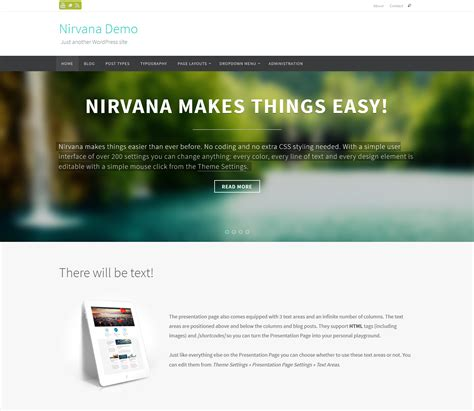 wordpress nirvana tutorial free wordpress theme nirvana doteasy wordpress