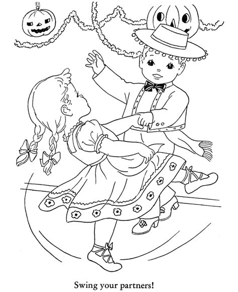 halloween party coloring page sheets halloween party