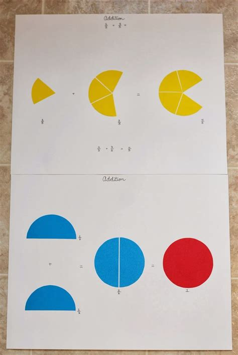 Montessori Fraction 23 best images about montessori fractions on