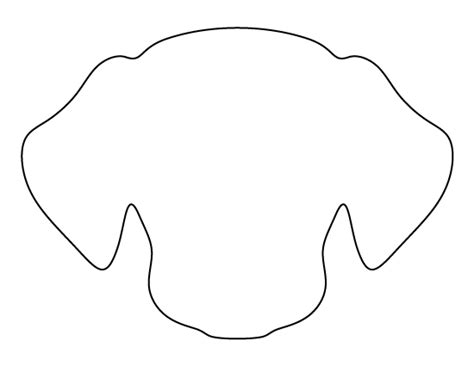 dog face pattern use the printable outline for crafts