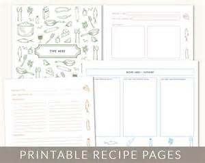 recipe book page template diy custom recipe binder cookbook printable pages 40