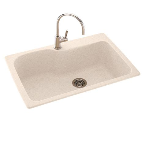 dual kitchen sink swan ascend dual mount granite 33 in 1 single bowl