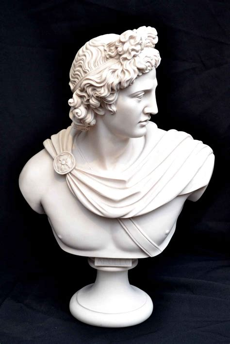 Regent Antiques   Marble   Stunning Marble Bust of Greek  Apollo