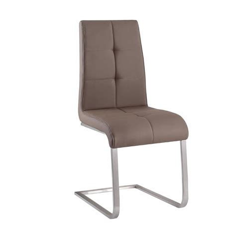 Taupe Chair by Nspire Kolt Dining Chair Set Of 2 Taupe Grey Disc 202
