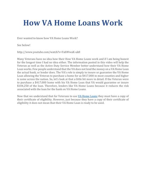 ppt how va home loans work powerpoint presentation id