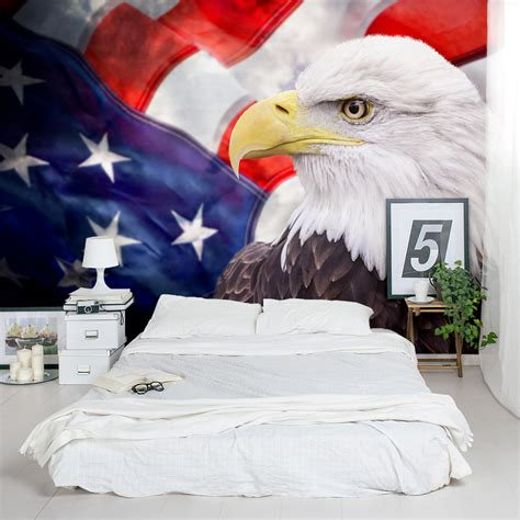 american bald eagle wall mural
