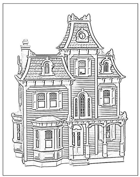 coloring page doll house doll houses dollhouses and coloring pages on pinterest