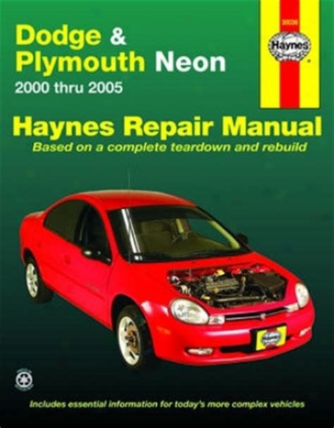 dodge and plymouth neon repair manual online for 2000 thru autos post