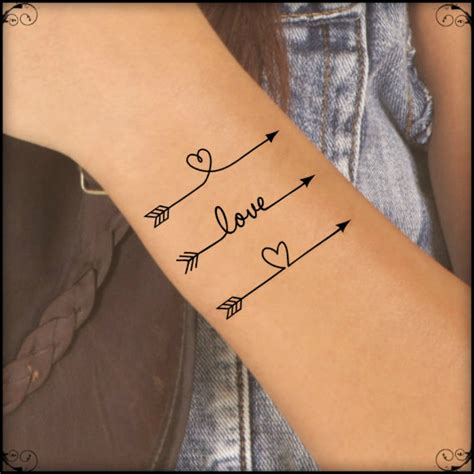 Name Tattoo Temporary | temporary tattoo 3 arrow fake tattoo thin durable waterproof