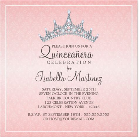 Invitations For A Quinceanera Templates | quinceanera invitations template 24 free psd vector