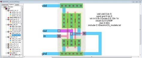 nor gate layout design lab
