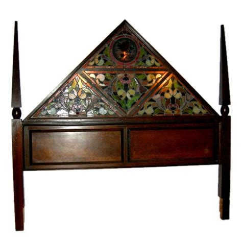 Glass Headboard by Style Stained Glass Lighted Headboard At 1stdibs