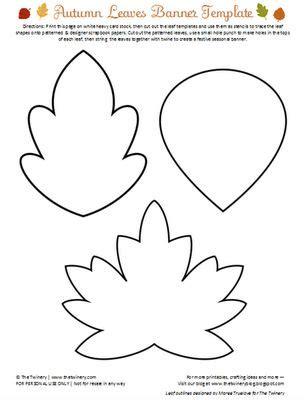leaf templates felt wool pins pinterest