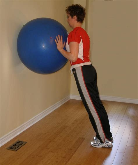 exercise ball calf raise
