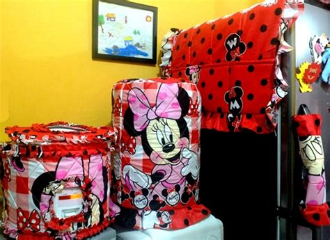 Set Sarung Gkm Galon Kulkas Magic Motif tutup galon unik toko bunda