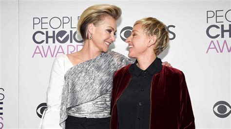 degeneres divorce portia portia de moved to a bachelorette pad away from