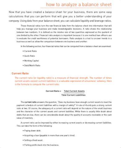 nonprofit balance sheet 8 nonprofit balance sheets sle templates