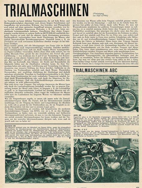 Motorrad Trial Norddeutschland by 1966 Trial Motorr 228 Der Markt 252 Berblick In Deutschland