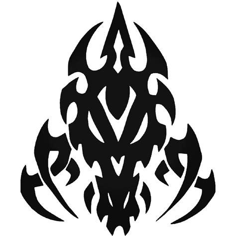 Tribal Sticker Skull by Tribal Dragon Skull Vinyl Decal Sticker
