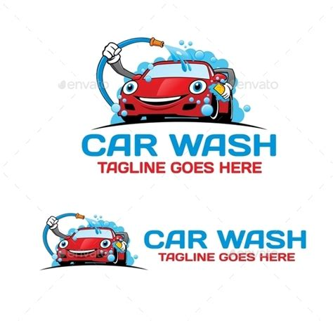 Cartoon Car Wash Logo By Mazyo2x Graphicriver Car Wash Logo Template Free