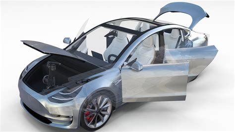 tesla model 3 interior 360 tesla 3 interior chassis 3d model