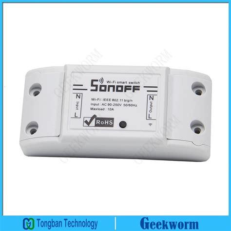 Sonoff Iot Remote Wifi Wireless Smart Switch For Smart Home aliexpress buy iot sonoff diy wireless wifi switch timer switch app controll switch module