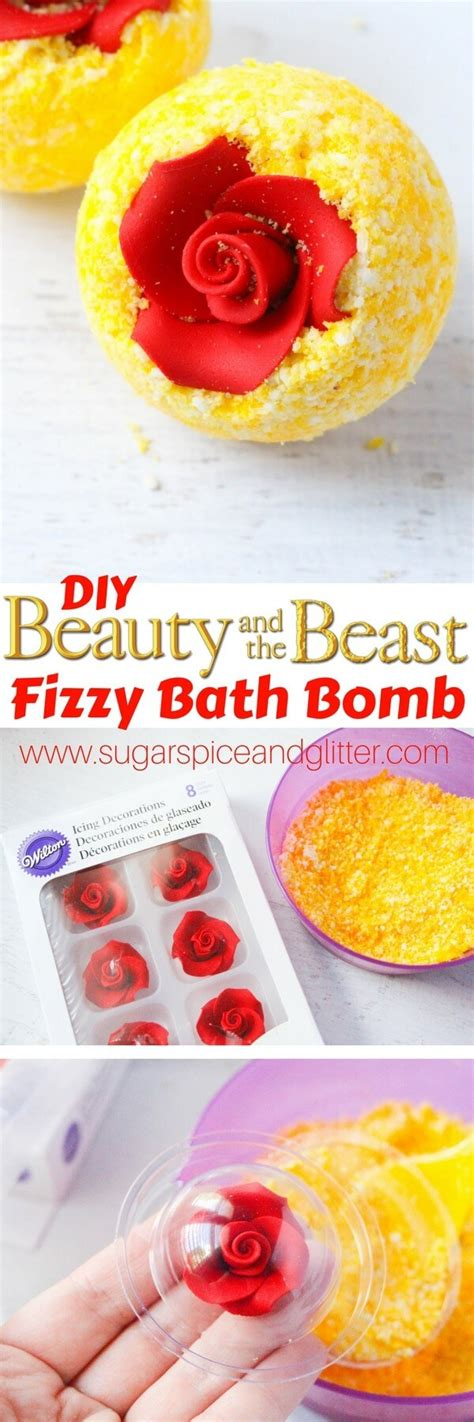 beauty and the beast inspired recipes crafts with diy belle s bath bombs sugar spice and glitter