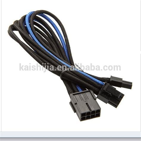 Pcie Power Splitter 8 Pin To Dual 6 2 Pin 25 Cm pci express pcie 8 pin to dual 8 6 2 pin card y