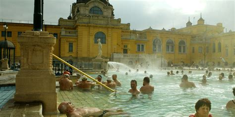 water and mud soaking in europe s steaming thermal