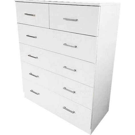 Tallboy Chest Of Drawers White by 6 Chest Of Drawers Bedroom Tallboy Dresser In White Buy White Tallboys