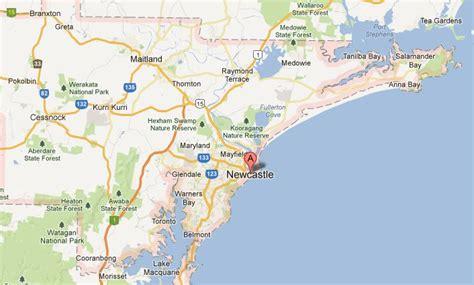 newcastle australia map australia map newcastle