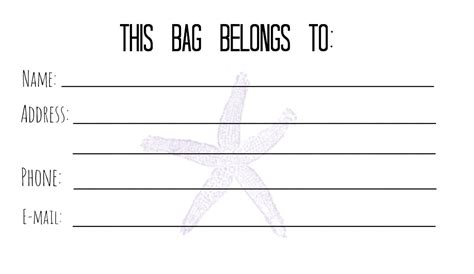 Luggage Tag Business Card Template