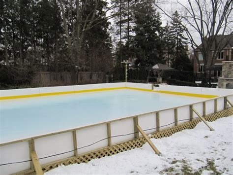 ice rink backyard pin by center ice rinks on our backyard rink projects