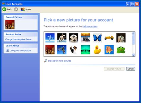php tutorial with xp for windows computer guides change a users profile picture windows xp