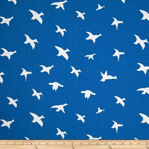 printable cotton fabric silhouette premier prints bird silhouette fabric cobalt blue or choice of