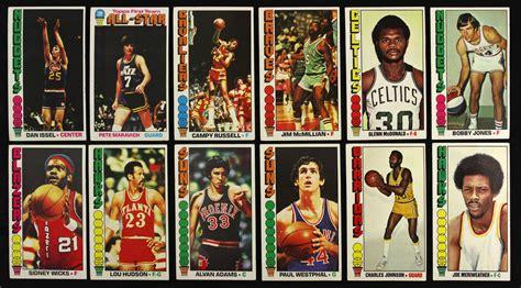 yaqui guerrido basketball card lot detail 1970 93 basketball football card collection