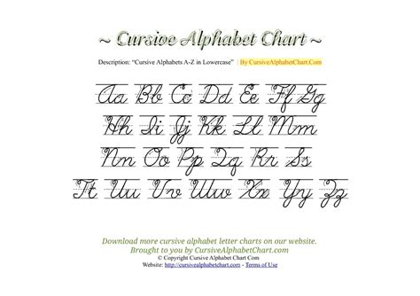 printable cursive letters uppercase and lowercase 10 best images of alphabet chart with arrows print upper