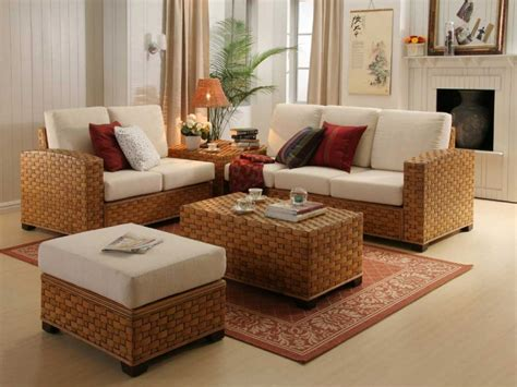 Wicker Living Room Sets Contemporary Room Design Ideas Indoor And Rattan Living Room Set Living Room And Dining Room